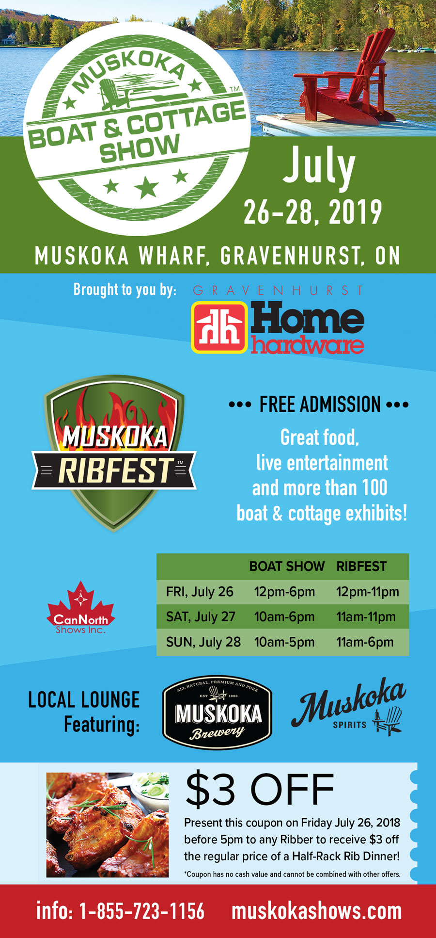 Muskoka Boat and Cottage Show and Muskoka RibFest | July 26-28, 2019